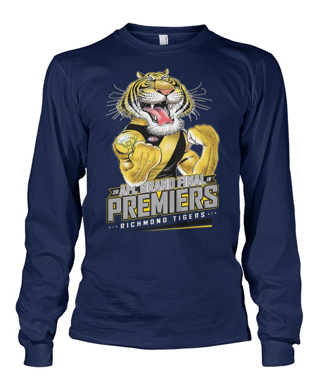 20 AFL grand final premiers richmond tigers long sleeve