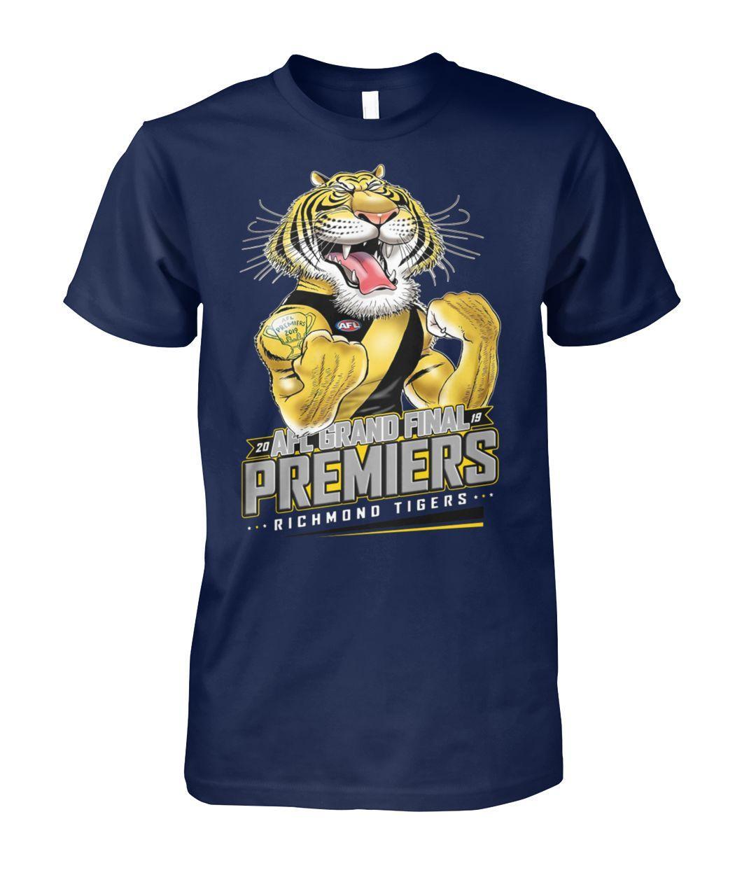 20 AFL grand final premiers richmond tigers unisex cotton tee