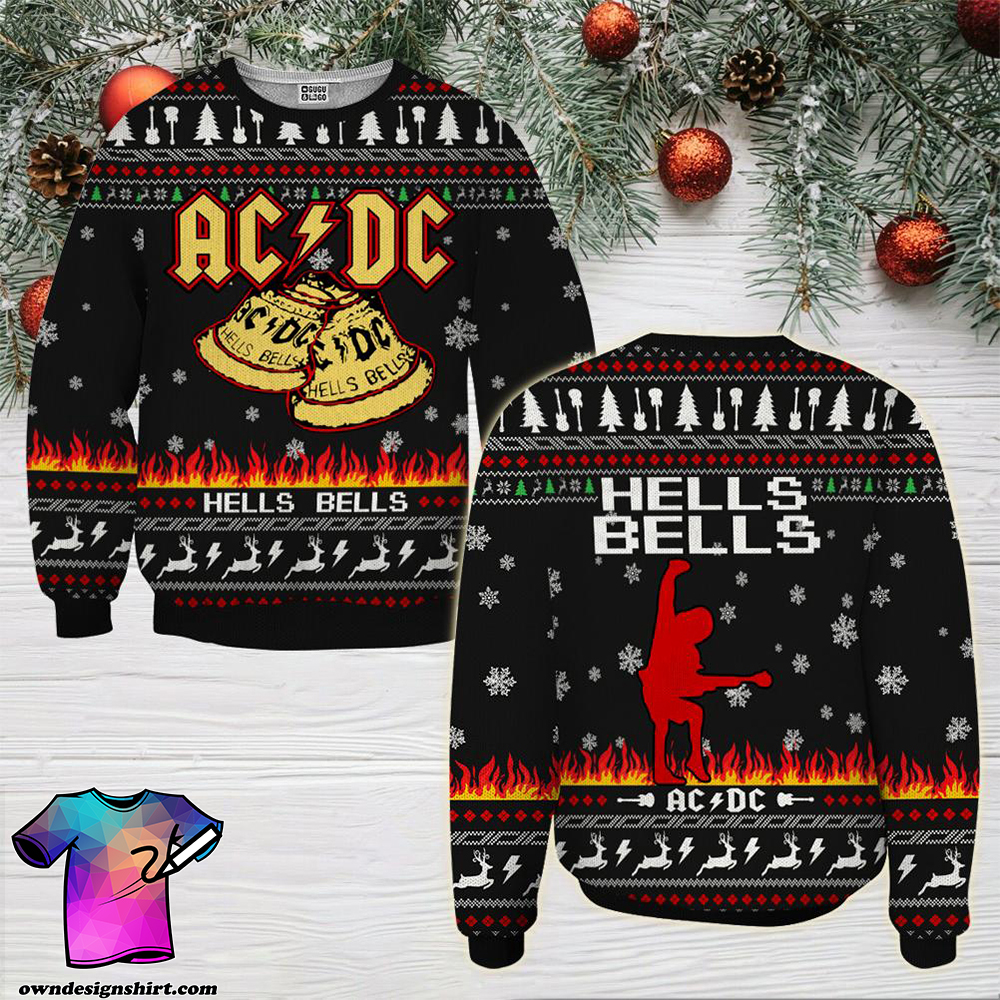 ACDC hells bells ugly christmas sweater