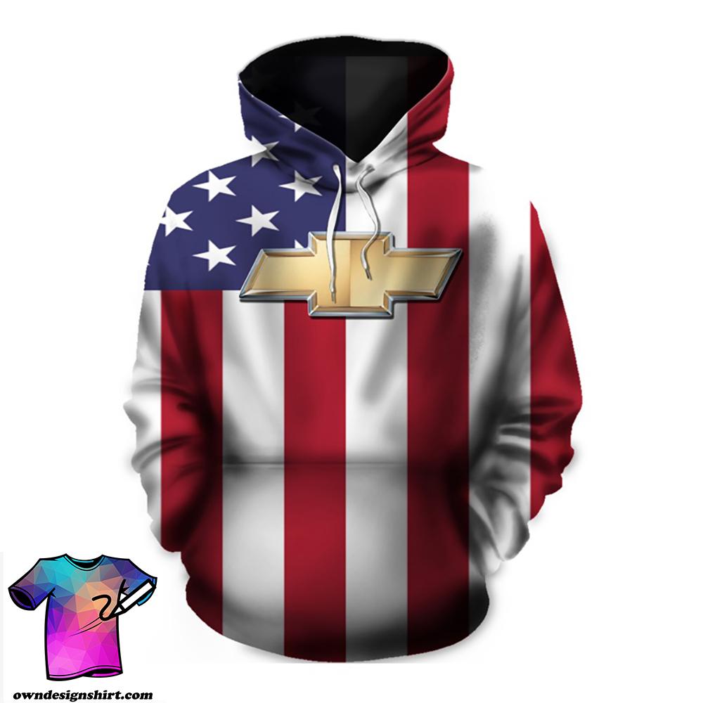 American flag chevrolet 3d hoodie