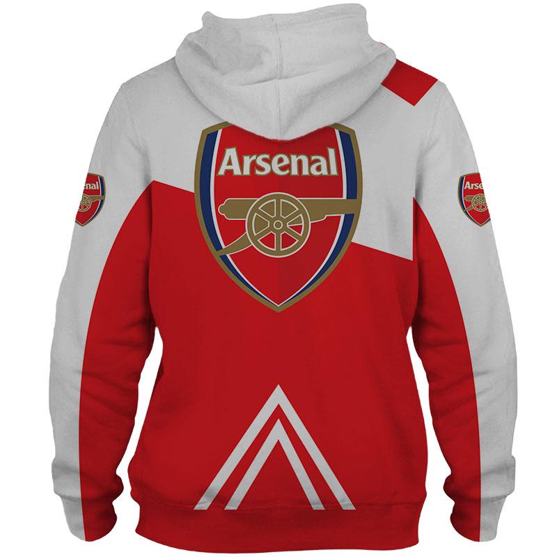 Arsenal football club puma all over print hoodie - back