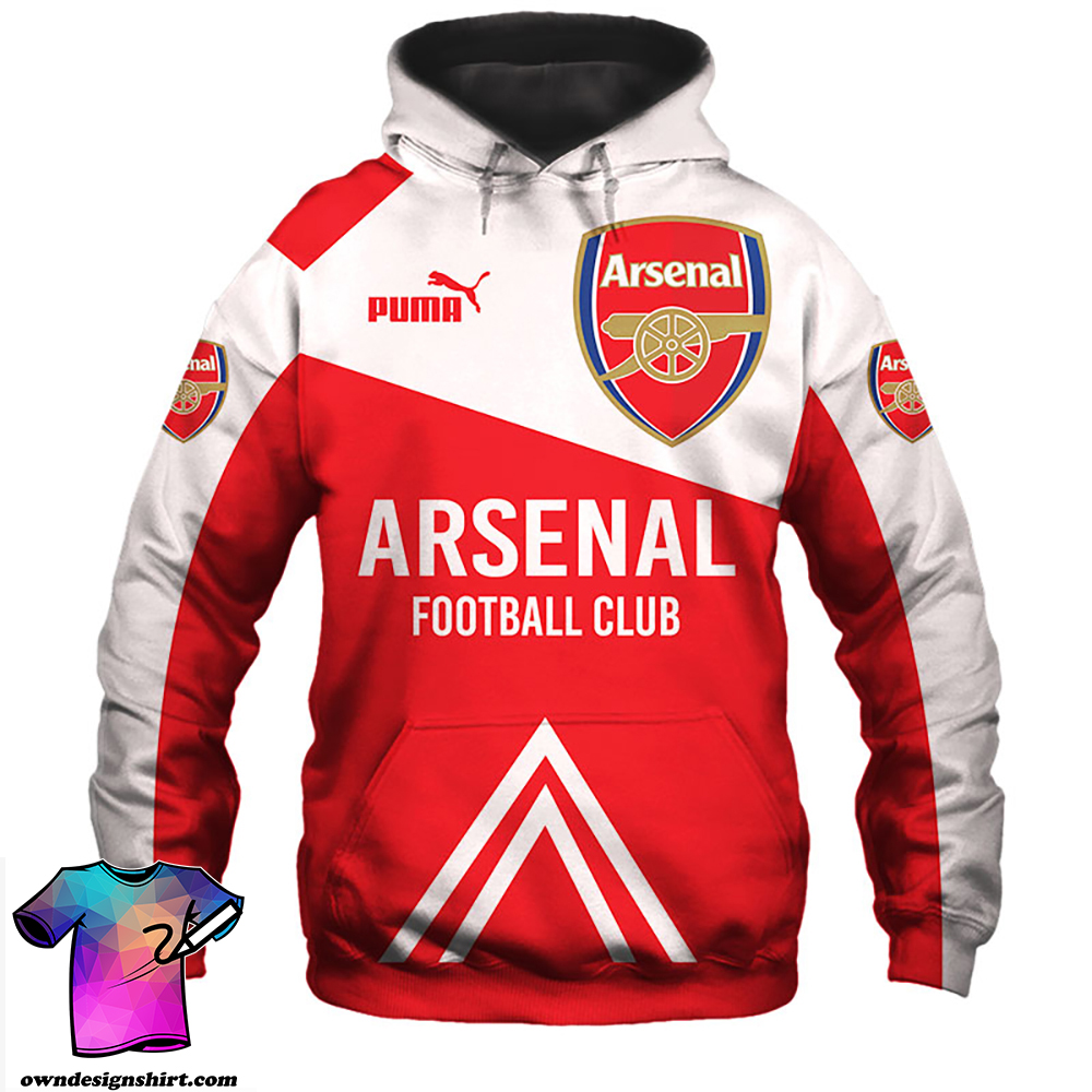 Arsenal football club puma all over print hoodie