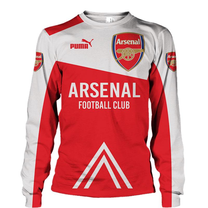 Arsenal football club puma all over print sweatshirt