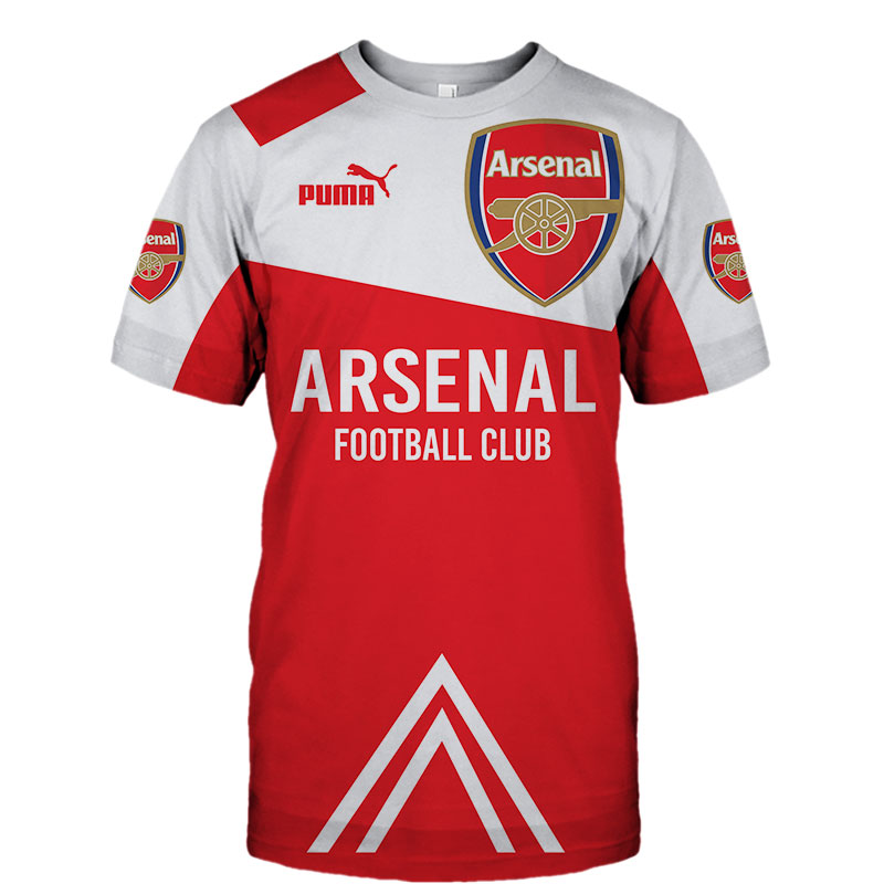 Arsenal football club puma all over print tshirt