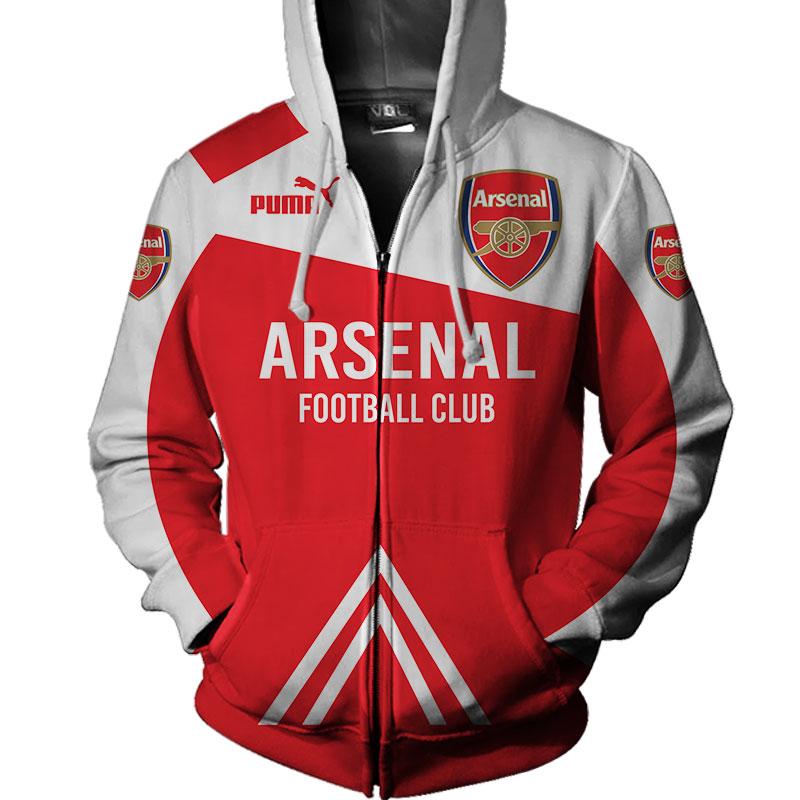 Arsenal football club puma all over print zip hoodie
