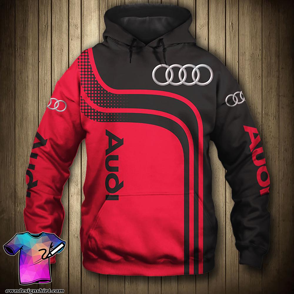 Audi sport car all over print hoodie
