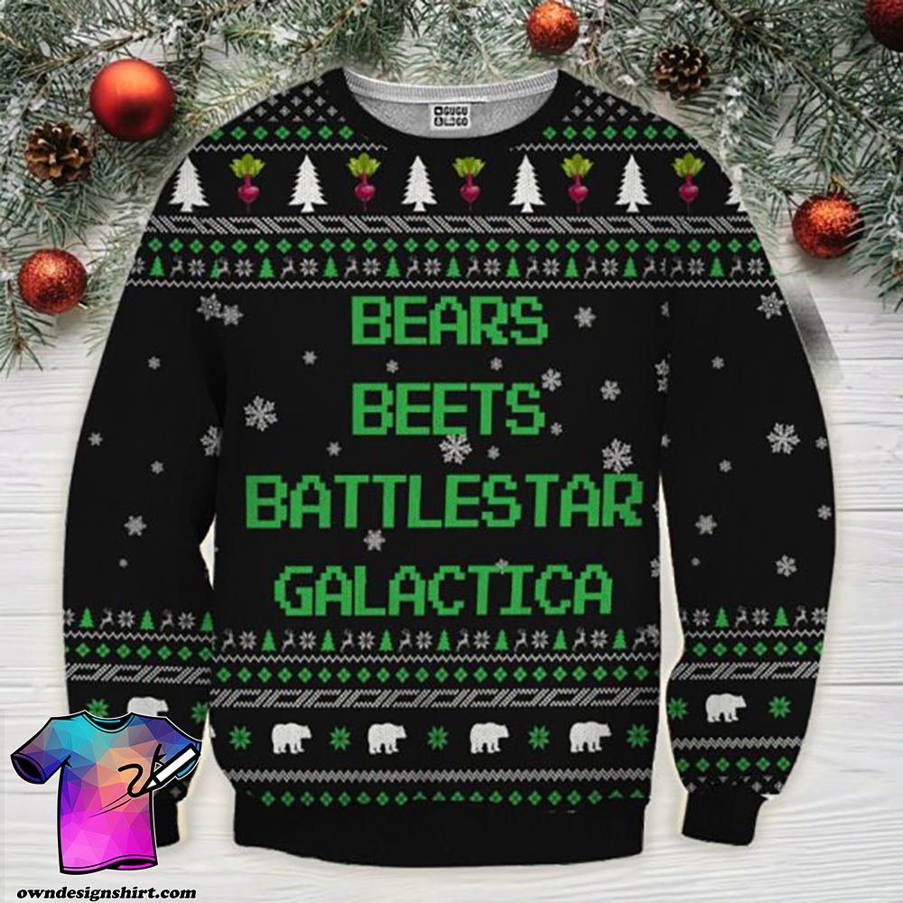 Bears beets battlestar galactica ugly sweater