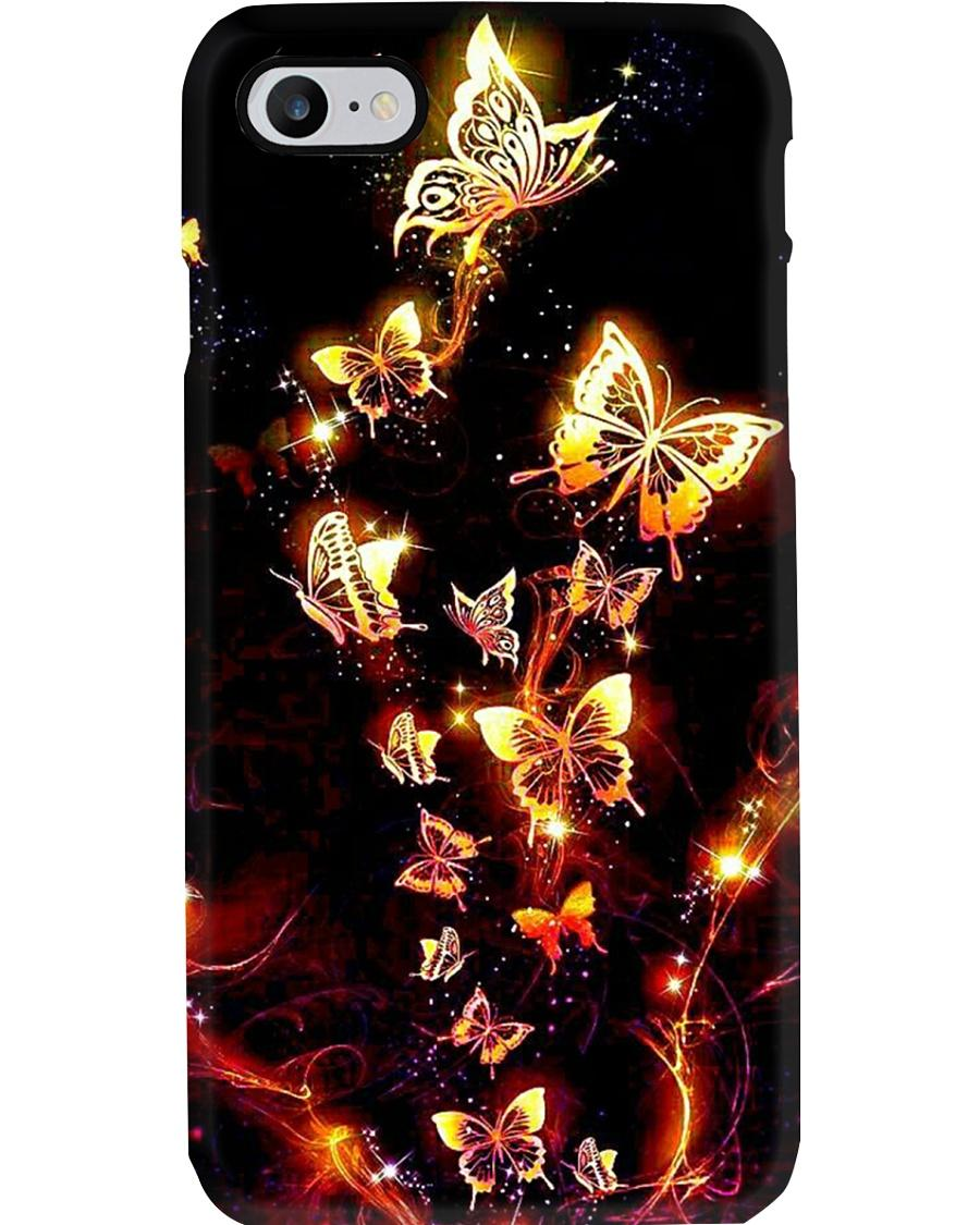 Beautiful golden butterfly phone case - 1