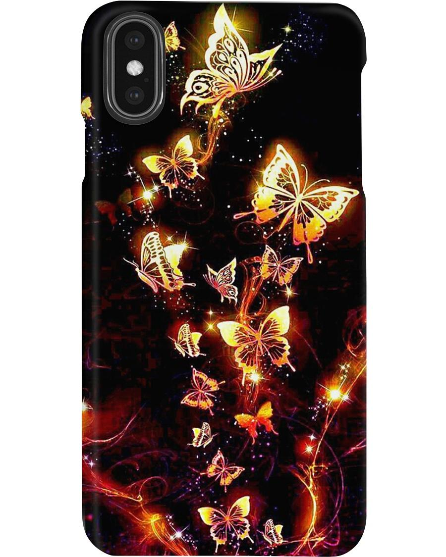 Beautiful golden butterfly phone case - 3