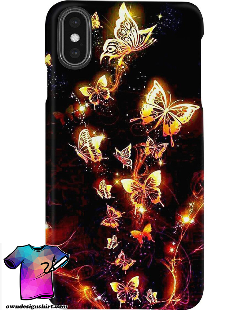 Beautiful golden butterfly phone case