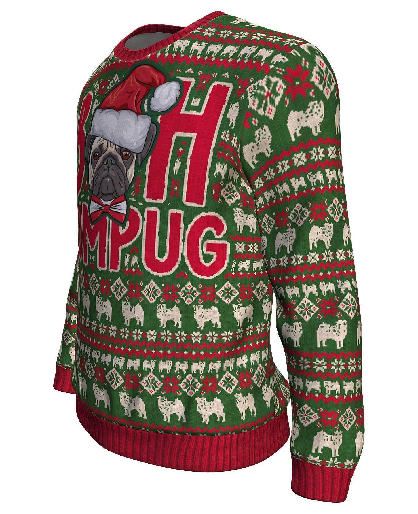 Christmas bah humpug all over print sweater - maria 1