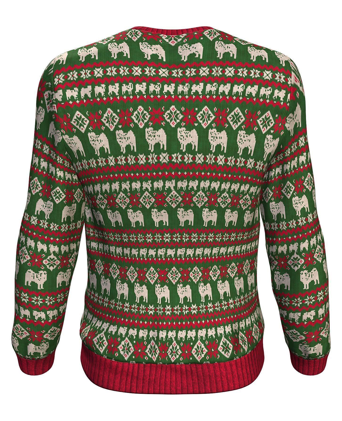 Christmas bah humpug all over print sweater - maria 2