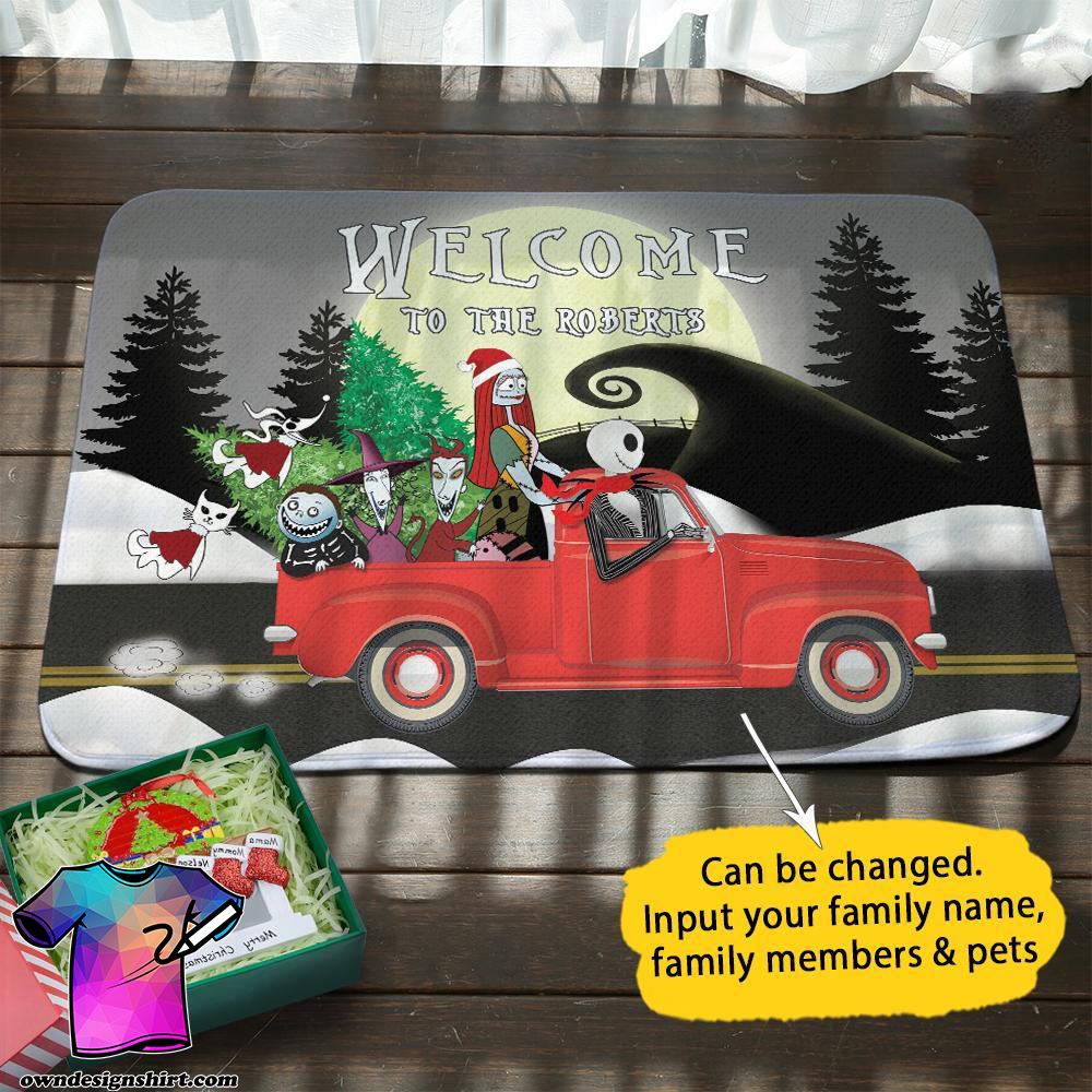 Christmas jack and sally on truck welcome to the robert doormat