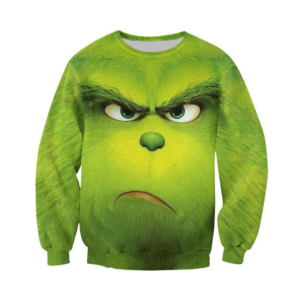 Christmas the grinch face 3d all over printed long-sleeved shirt