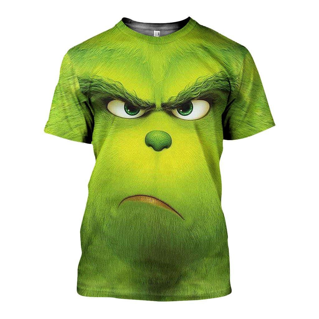Christmas the grinch face 3d all over printed tshirt