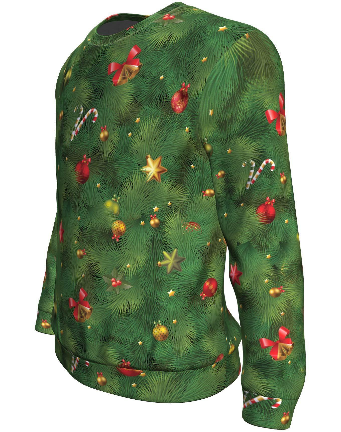 Christmas tree all over print sweater - maria 4