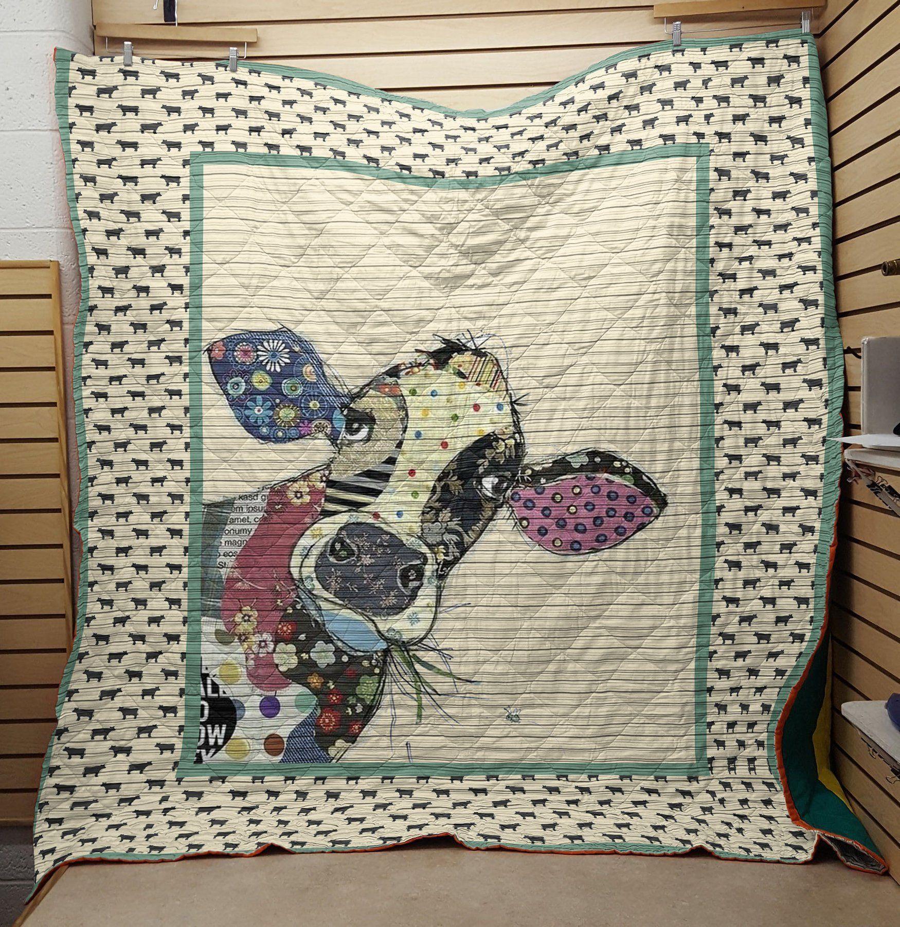 Cow fabric blanket - queen