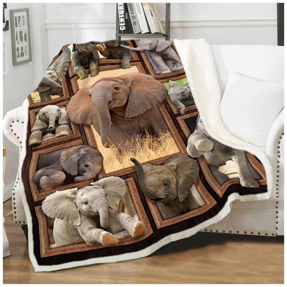 Cute elephants blanket 1