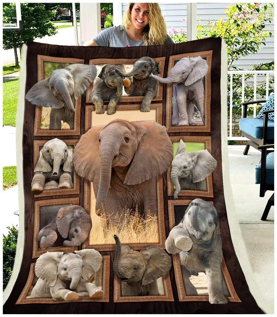 Cute elephants blanket 3
