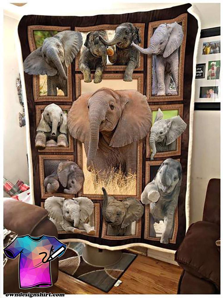Cute elephants blanket