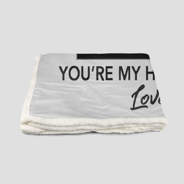 Dear daddy I can't wait to meet you pregnant fleece blanket - medium