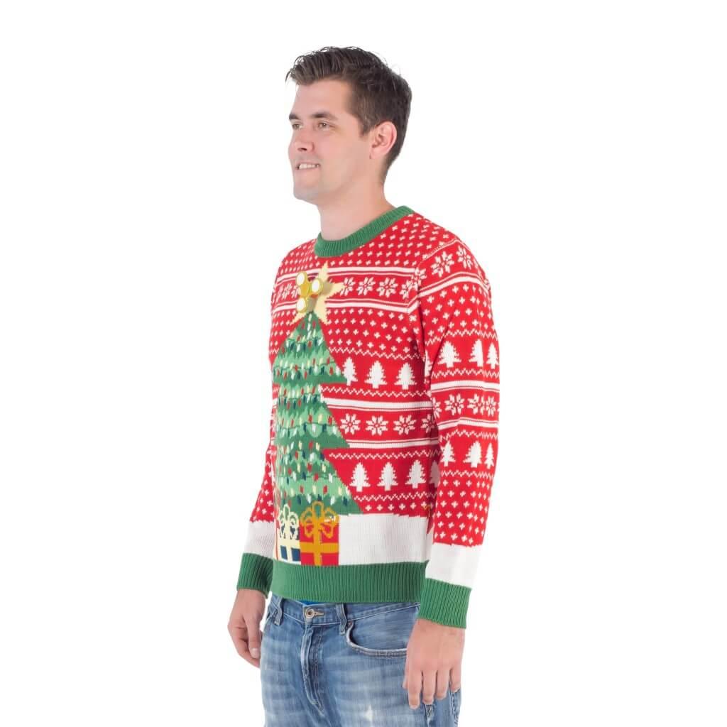 Fidget spinner star christmas tree ugly christmas sweater - 2