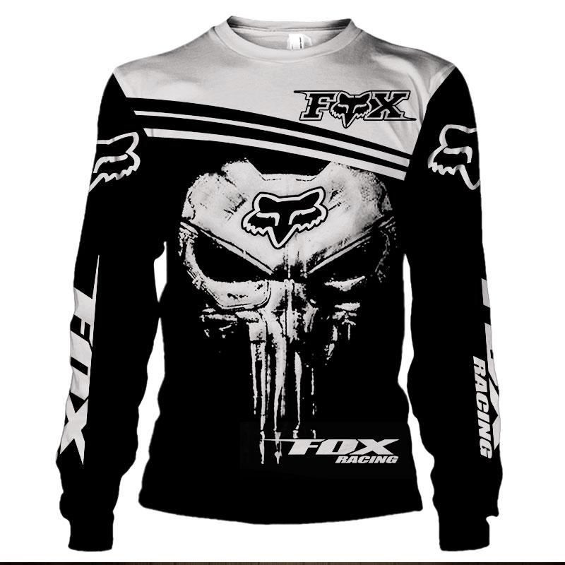 Fox racing skull 3d sweatshirt