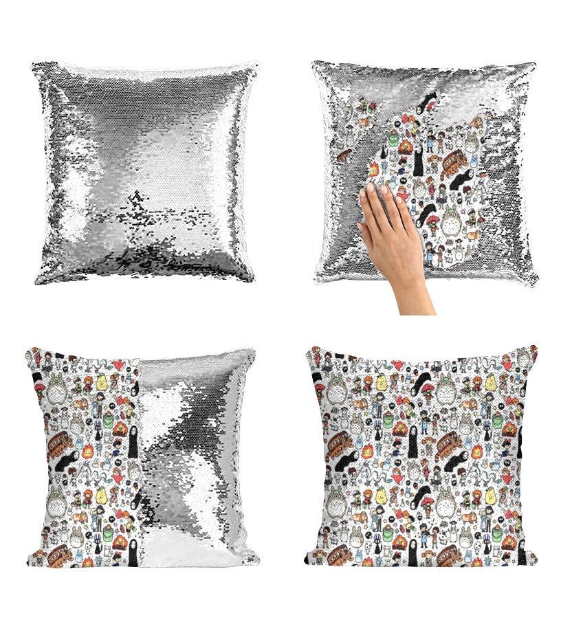 Ghibli movies premium blanket - Mermaid Sequin Pillow Case