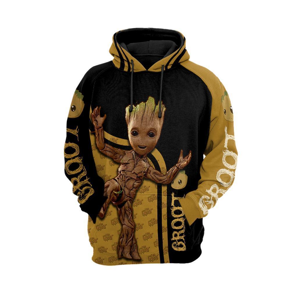 Groot 3d full printing hoodie