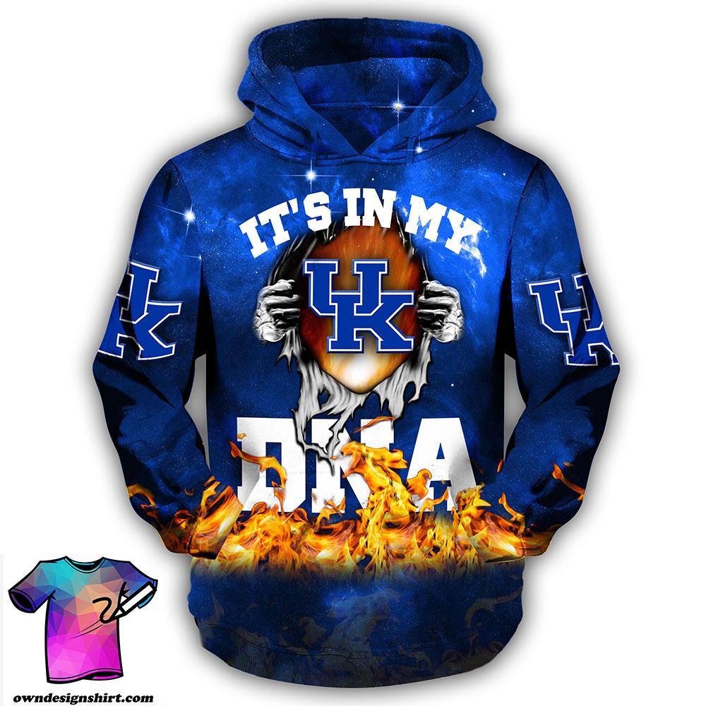 Groot hug kentucky wildcats it's in my dna all over print hoodie