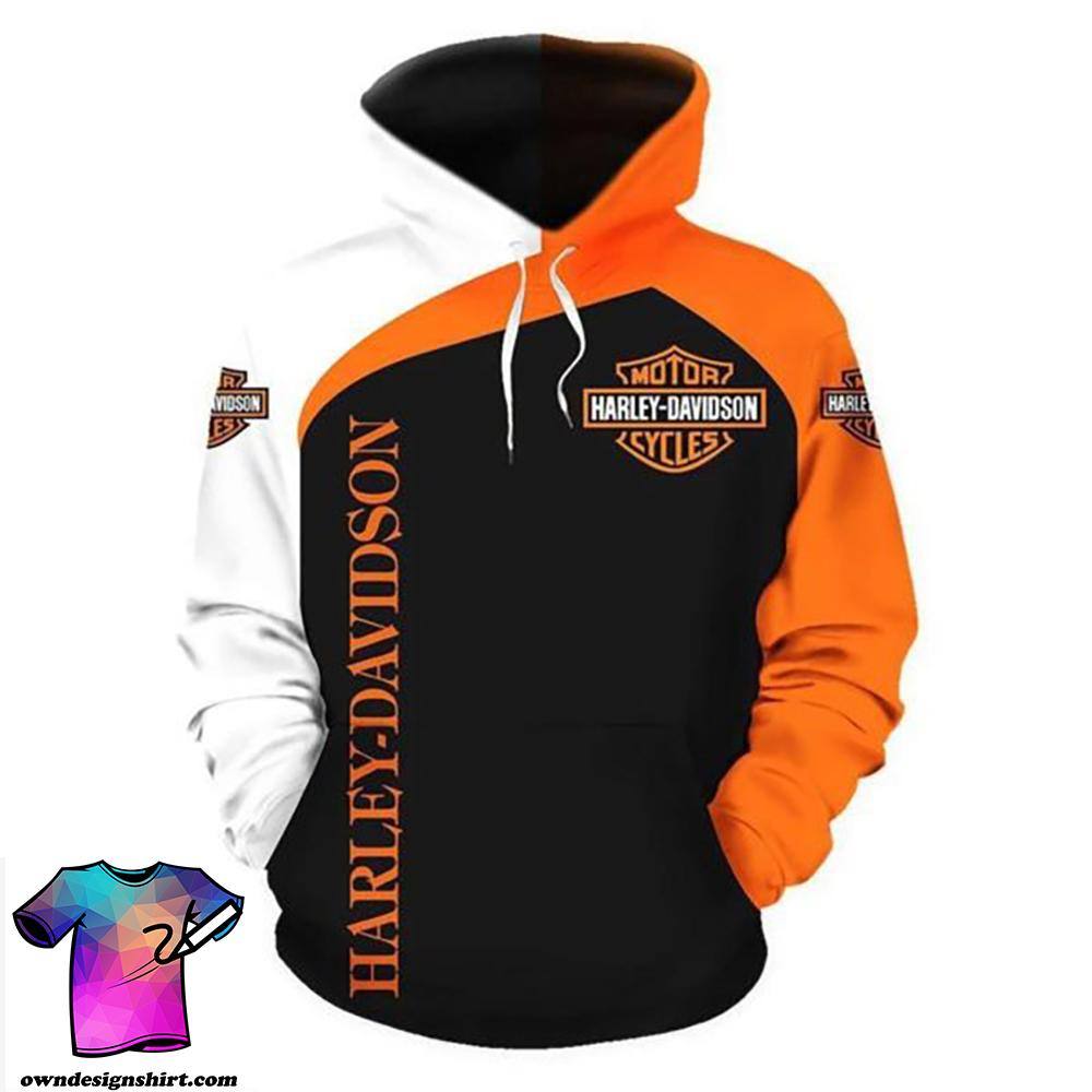 Harley-davidson motorcycle biker all over print hoodie
