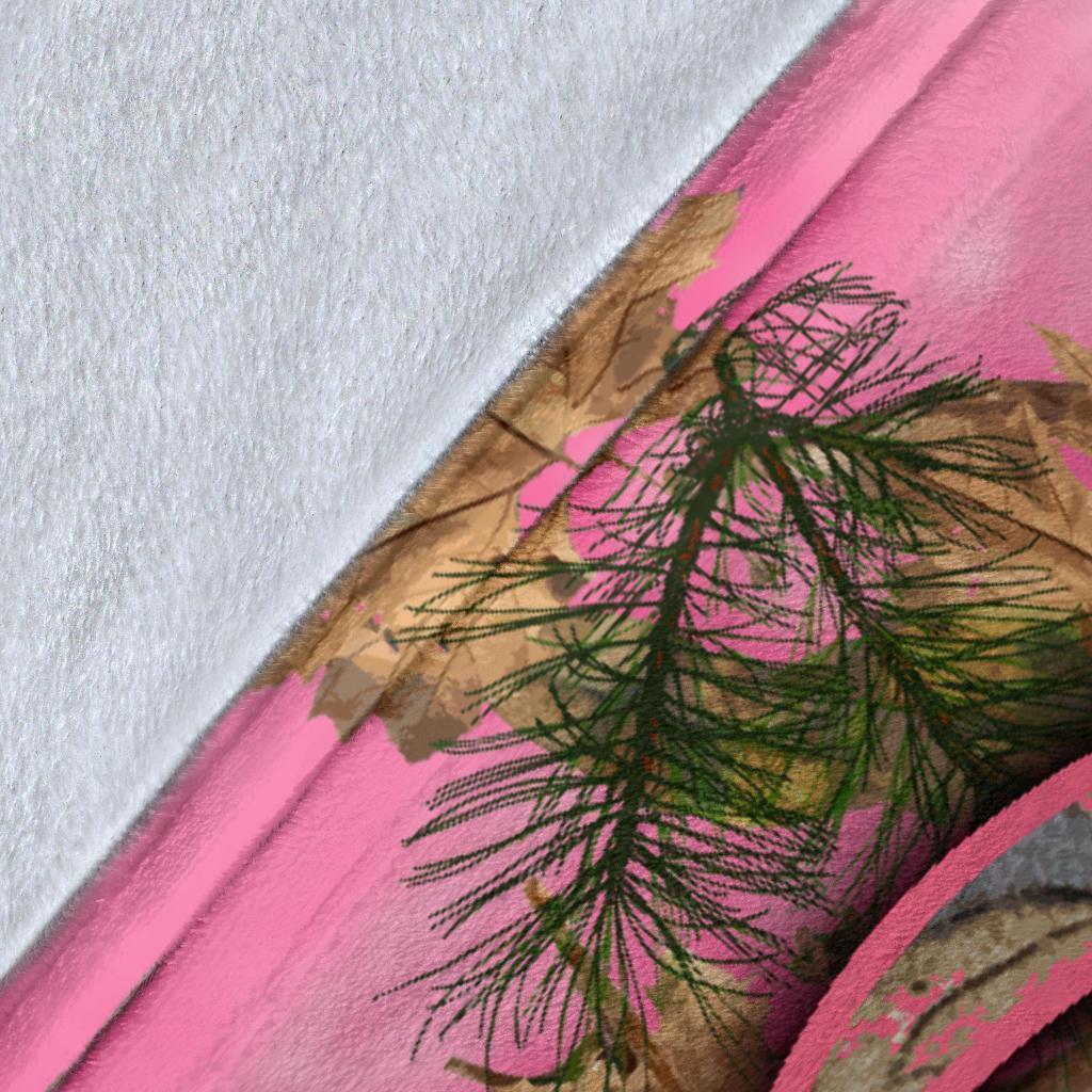 Her buck his doe pink camo blanket - original
