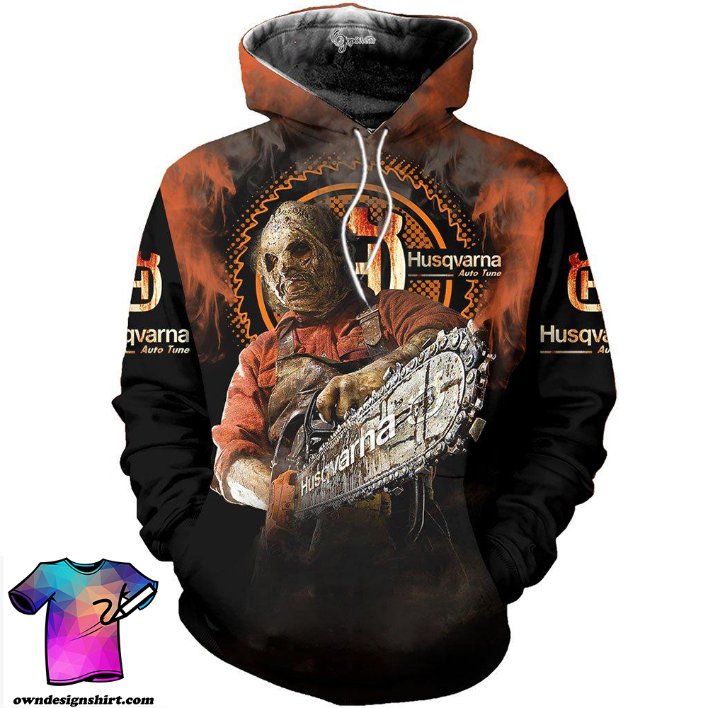 Husqvarna halloween 3d all over printed shirt