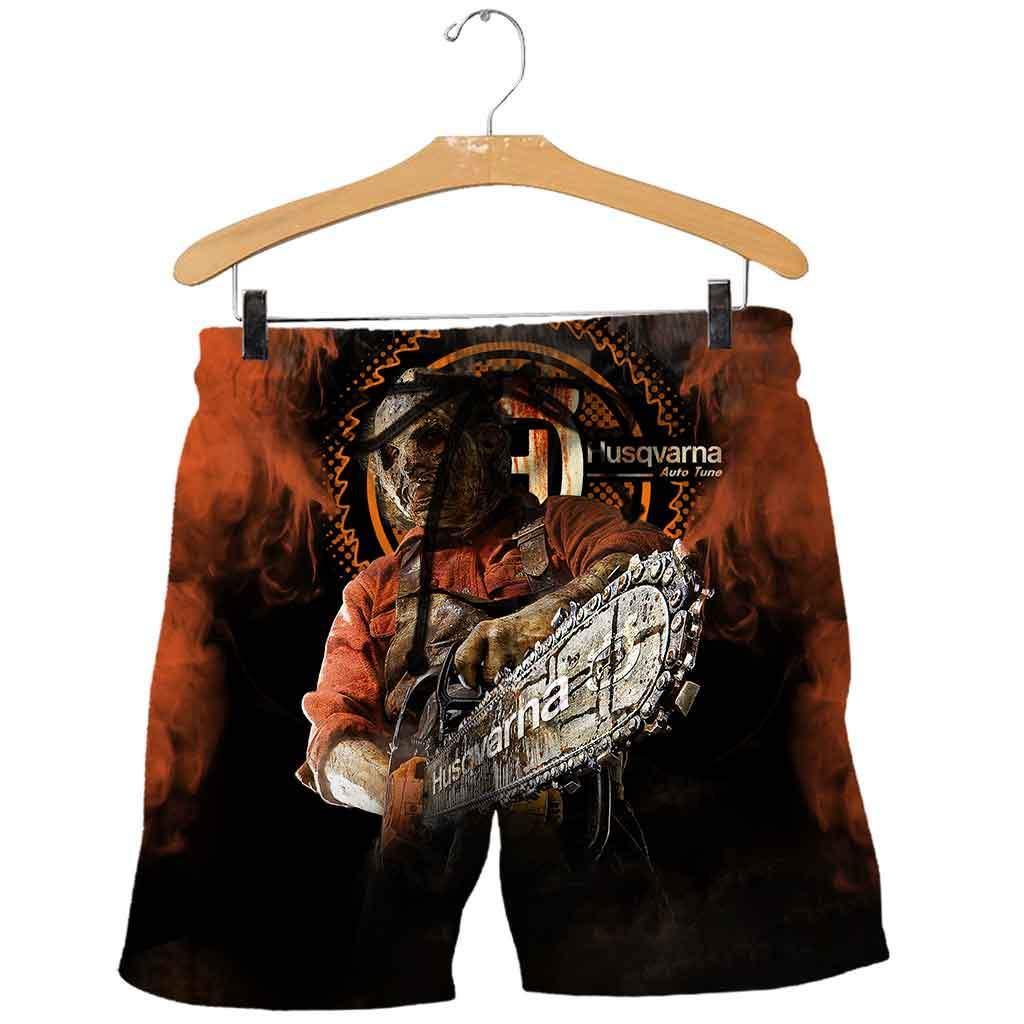 Husqvarna halloween 3d all over printed shorts