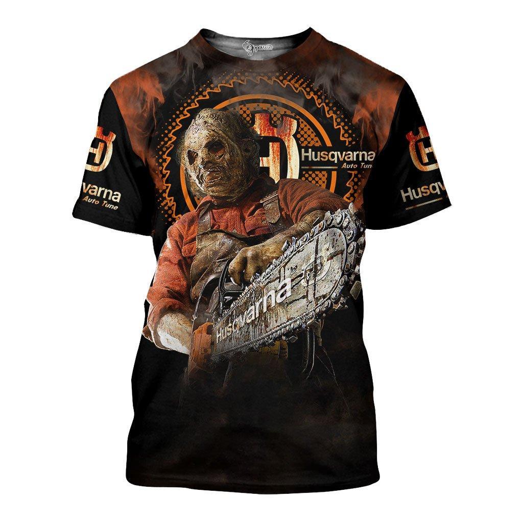 Husqvarna halloween 3d all over printed tshirt