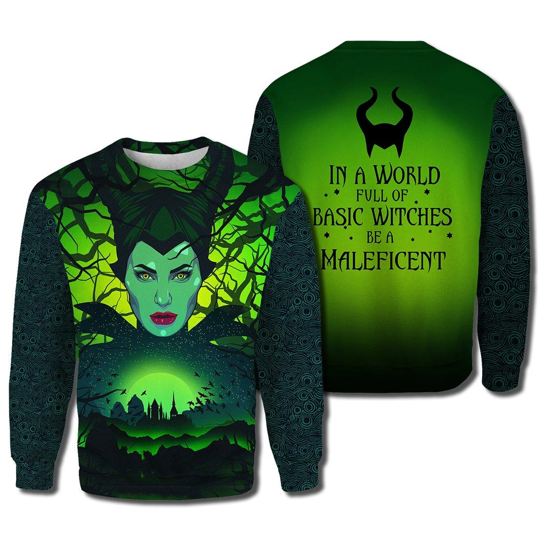 In a world full of basic witches be a maleficent 3d sweater