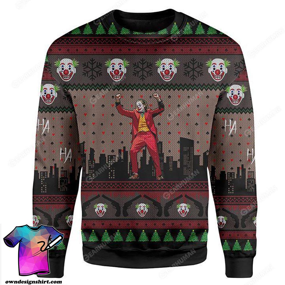 Joaquin phoenix joker dance 3d ugly sweater