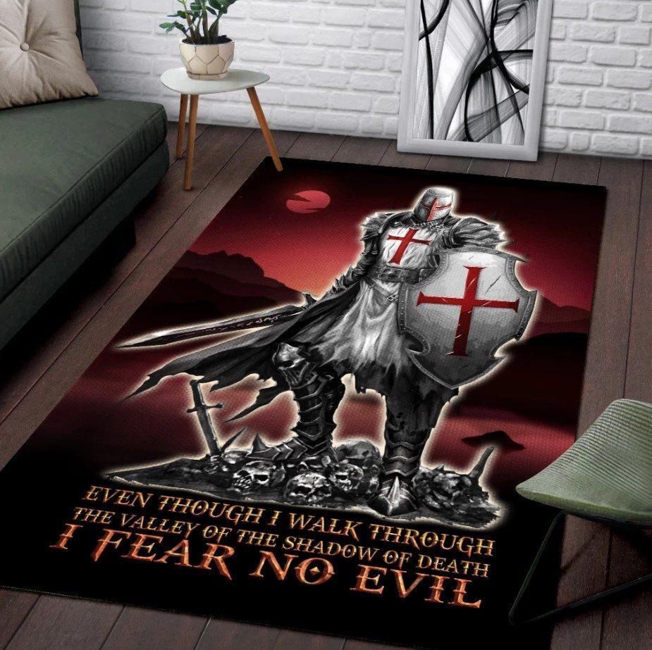 Knights templar 3d full printing area rug - medium