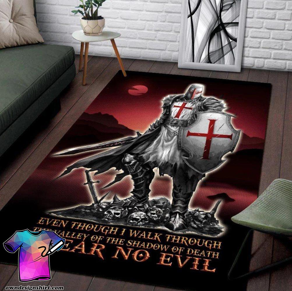 Knights templar 3d full printing area rug