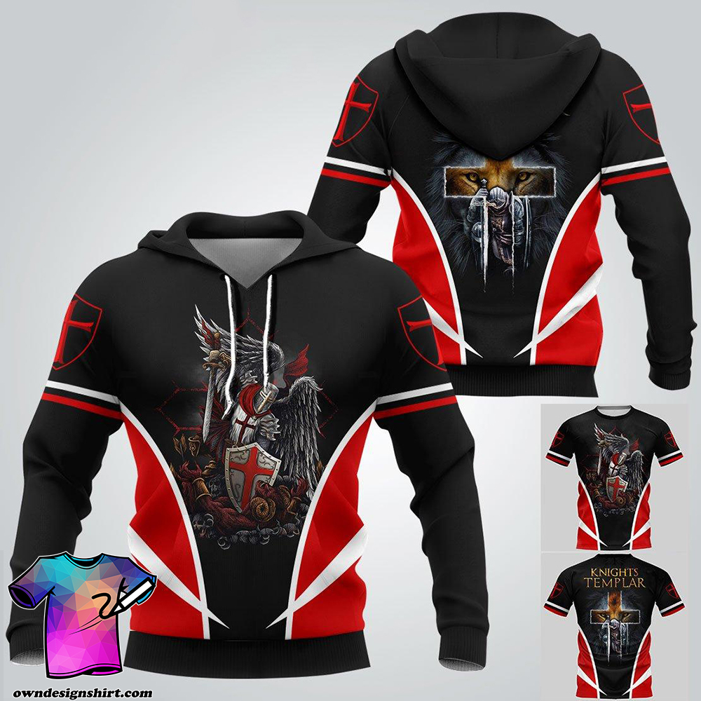 Knights templar 3d full printing shirt