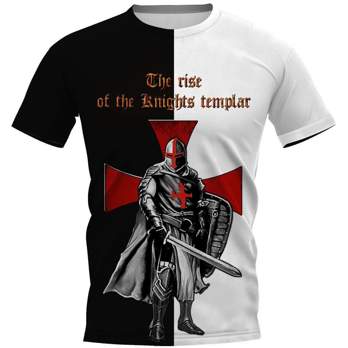 Knights templar the rise of the knight templar 3d full printing unisex tee