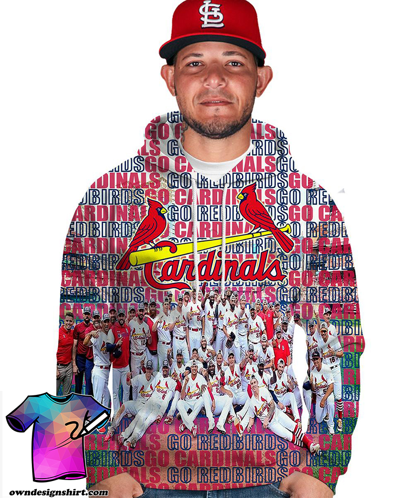 MLB st louis cardinals go redbirds 3d hoodie