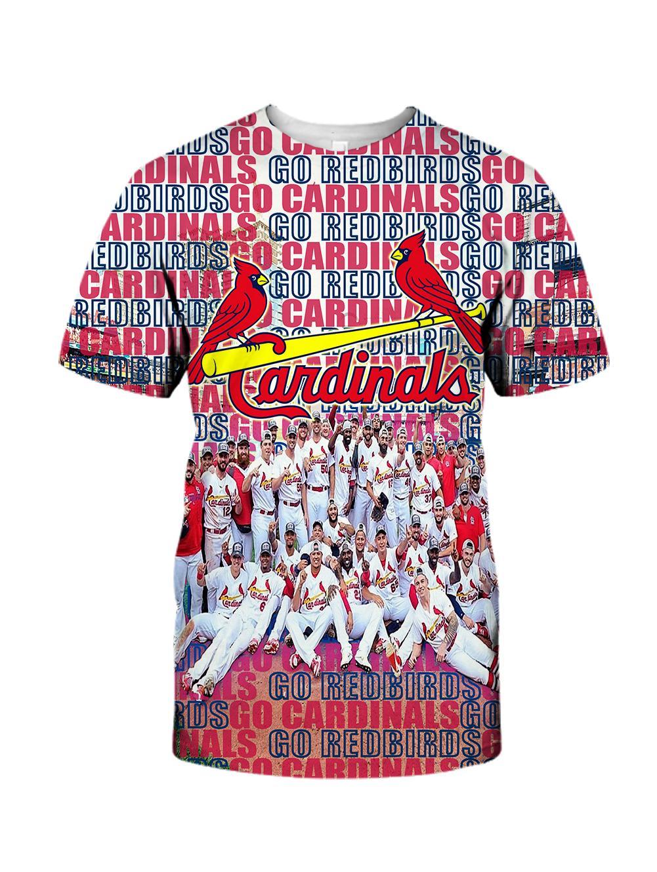 MLB st louis cardinals go redbirds 3d tshirt