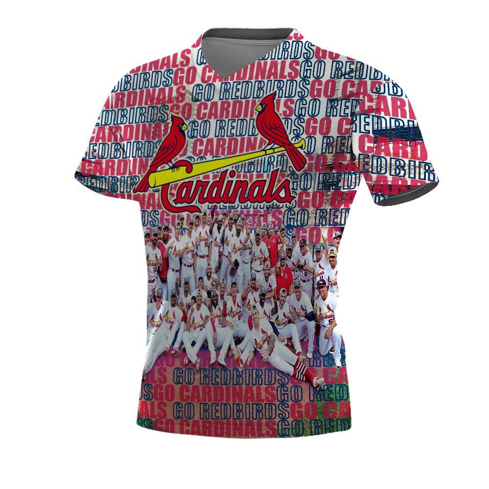 MLB st louis cardinals go redbirds 3d v-neck