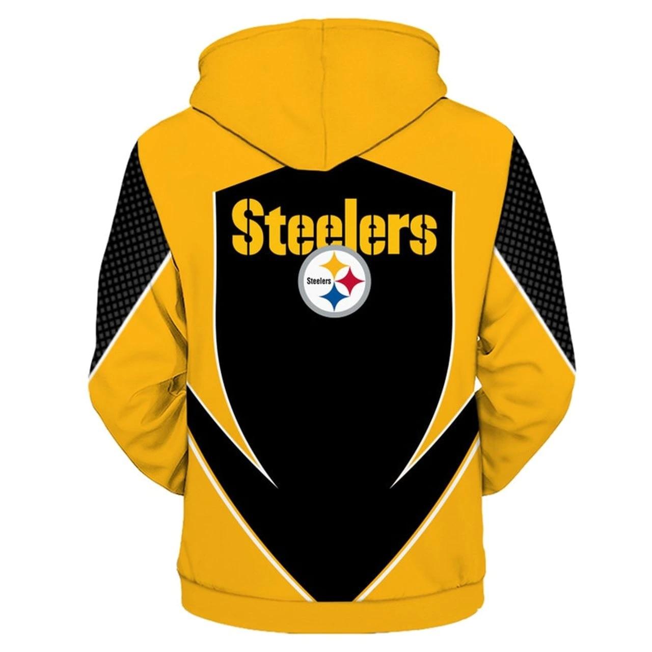 NFL pittsburgh steelers all over print hoodie - back