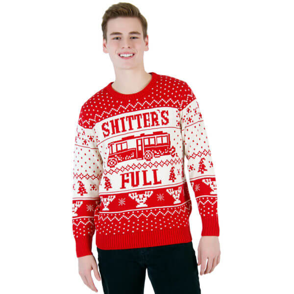 National lampoon vacation shitter's full ugly christmas sweater - front