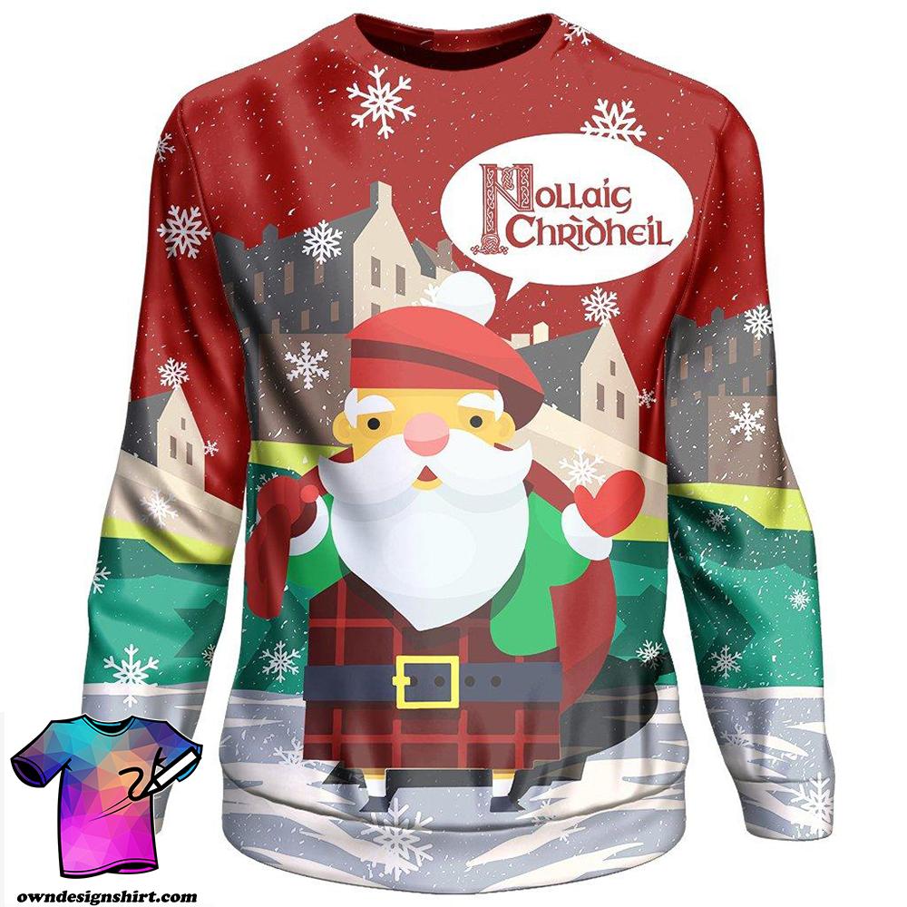 Nollaig chridheil scotland christmas 3d sweater