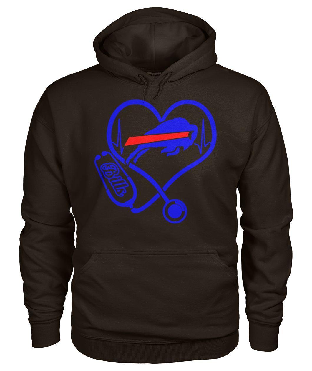 Nurse heart buffalo bills hoodie