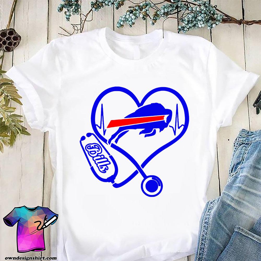 Nurse heart buffalo bills shirt