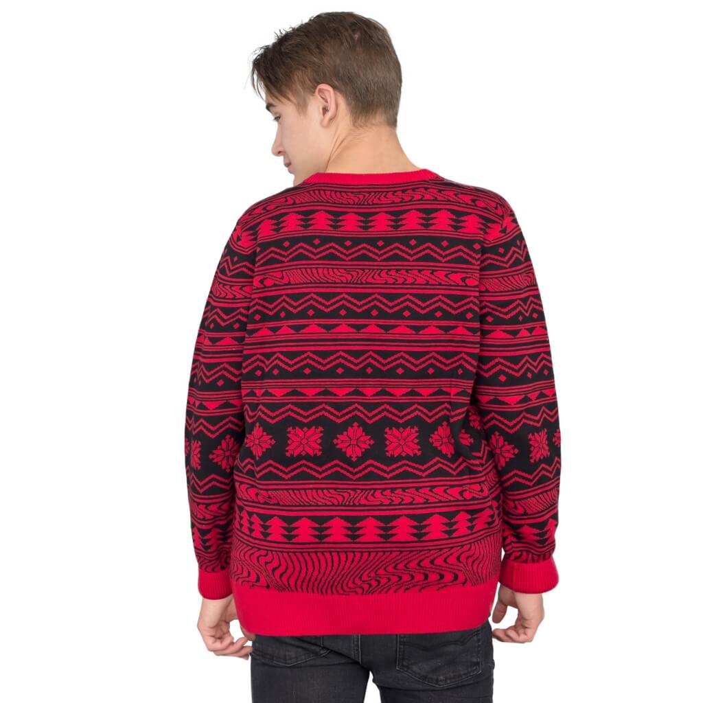 Pewdiepie ugly christmas sweater - back